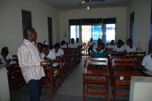 Dr. Addae teaching a class