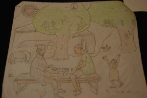 """Living for Peace"" submitted by Gabriel Bobila, student"