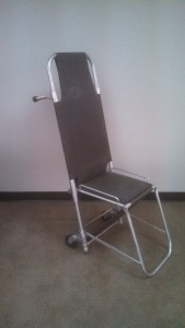 United Medical Response donated item: folding transportation chair